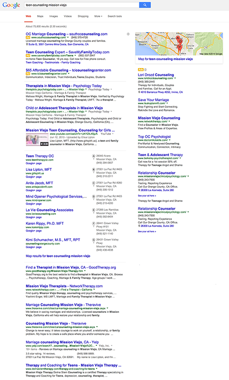Google Search Results - Example 1